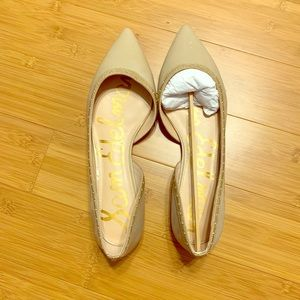 Sam Edelman Roni nude pointy toes flats